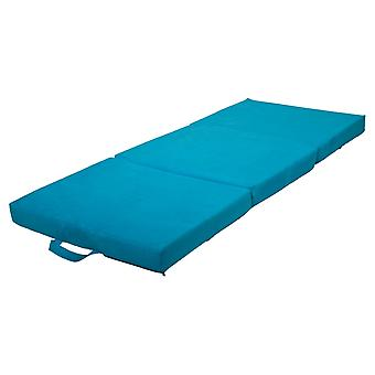 Vikbar madrass gästmadrass 200x80x10 cm blå