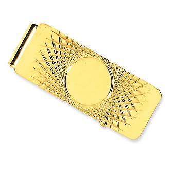 14k Geel goud gepolijst engravable Geld Clip Sieraden Geschenken voor mannen - 12,2 gram