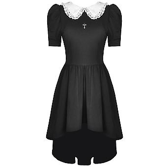 Dark In Love Black Lolita Collar Dress