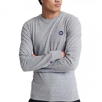 Superdry Коллективный логотип длинный рукав футболка темно-серый песок 9SS