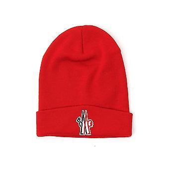 Moncler Grenoble 3b10009974455 Men's Red Wool Hat