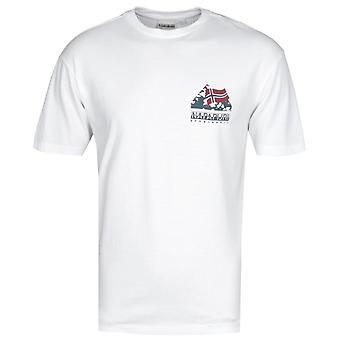 Napapijri Suar weiß Grafik T-Shirt