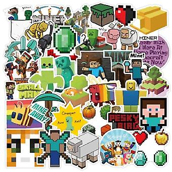 Minecrafted Theme Stickers,laptop, Fridge Phone, Skateboard Suitcase Sticker