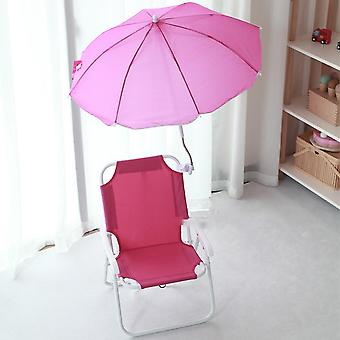 Outdoor Sports Folding Beach Chair, Thickened Picnic With Umbrella Portable