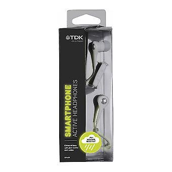 TDK SP400 Active In-Ear Headphones for Smartphones, Cream