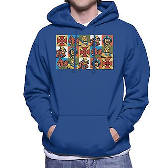 Masters Of The Universe He Man Spiegelde Montage Men's Hooded Sweatshirt