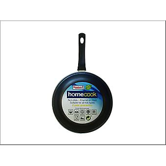 Home Cook Non-Stick Frying Pan Enamel Steel 28cm Cream HH0166
