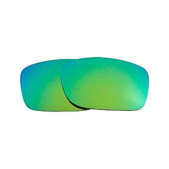 Replacement Lenses for Oakley Fives 2009 Sunglasses Anti-Scratch Green Mirror
