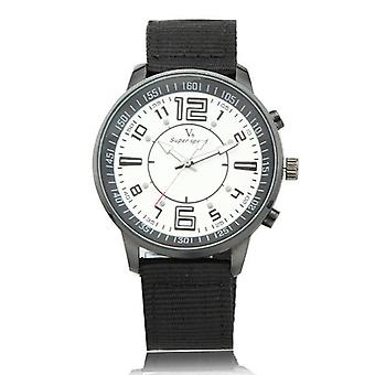 V6 Supper Speed Fabric Belt Fashion Casual Analog Quartz  Wrist Watch