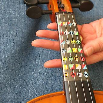Violin Beginner Learning Tools, Fiddle Fingerboard Chord  Note Stickers, Fret