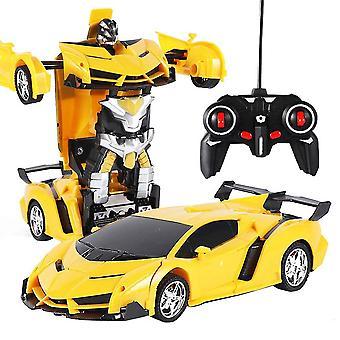 360 درجة التحكم عن بعد سيارة روبوت 2.4 غيغاهرتز تشوه سيارة الروبوت لعبة