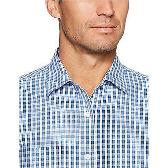 Essentials Men & apos;s العادية تناسب طويلة الأكمام عارضة قميص بوبلين, الأزرق تشي ...