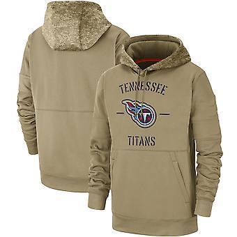 Men's Tennessee Titans Slant Strike Tri-Blend Raglan Pullover Hoodie Top WYG035