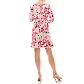 Floral Print 3/4 Ärmel Kleid