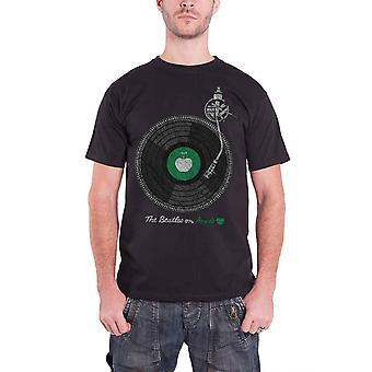 البيتلز تي شيرت أبل الطيال الفرقة شعار الرسمية الرجال الأسود الجديد
