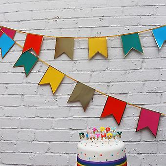 Rainbow Birthday Party Bunting Garland Decoration 3m