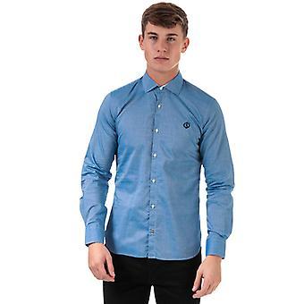 Chemise ajustée en coton Henri Lloyd Fancy pour hommes et femmes en bleu