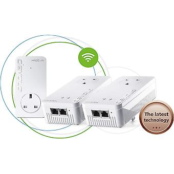 Devolo magic 1-1200 wi-fi ac whole home wi-fi kit: stable home working, high performance powerline,