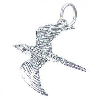 Flying Bird Sterling Silver Charm .925 X 1 Birds Charms - 3571