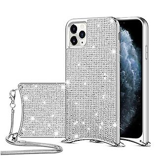 H-basics phone chain for Apple iPhone 11 necklace case cover - in silver - made of flexible TPU silicone
