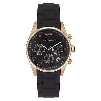 Armani Black And Gold Damen Chronograph Uhr Ar5906