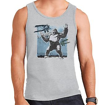 King Kong Being Attacked By Biplanes Men's Vest
