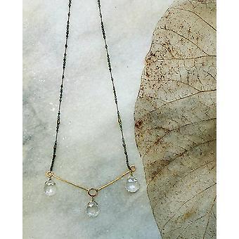 Quartz Crystal & Blue Tourmaline Necklace