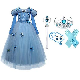 Princess Costume Long-Sleeved Dress And Accessories