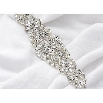 Rhinestone Bridal Belt, Crystal Sash - Wedding Dress Accessories