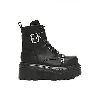 Koi Footwear Buckle & Chain PU Ankle Boot