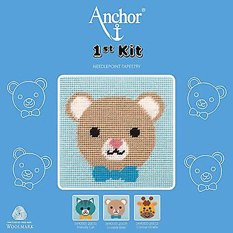 Anchor Cross Stitch Kit: 1st Kit: Best Friends: Lovable Bear