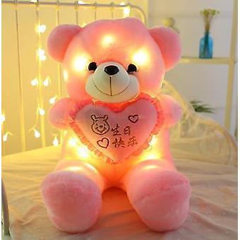 50cm Light Up Led Cute Teddy Bear Stuffed Animals Plush Toy