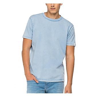 Replay Jeans Replay Organic Cotton Tee Shirt Sky Blue