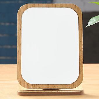Карманный милый постоянный рабочий стол зеркало компактный складной регулируемый угол алюминиевый косметический деревянный макияж стол 360 градусов портативный
