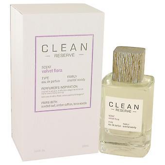 Limpiar terciopelo Flora Eau De Parfum Spray de limpia 3.4 oz Eau De Parfum Spray