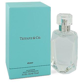 Tiffany Sheer Eau De Toilette Spray By Tiffany 2.5 oz Eau De Toilette Spray