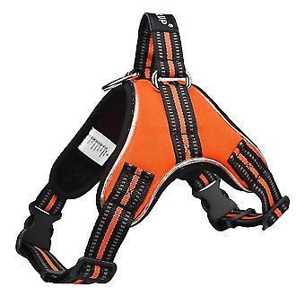 Dog harness led reflective dog vest, breathable mesh fabric safety chest vest
