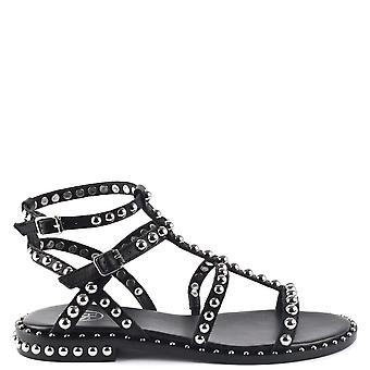 Ash Footwear Precious Black Silver Studded Leather Sandals