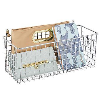 mDesign Metall Wandhalterung Hängekorb Behälter für Home Storage, Medium
