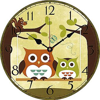Wall Clock Owl Series Wall Time Decoration