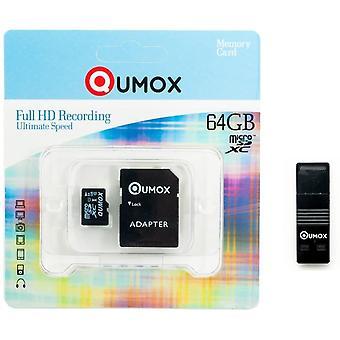 HanFei 64GB Micro SD SPEICHERKARTEN Klasse 10 UHS-I 64 GB R mit OTG USB-Leser