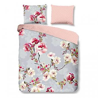 cover of the bed Floral 135 cm flannel grey 2-piece