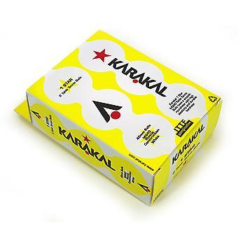 Karakal 1 star pöytätennis 40mm poly starter pallot pack 6 - valkoinen