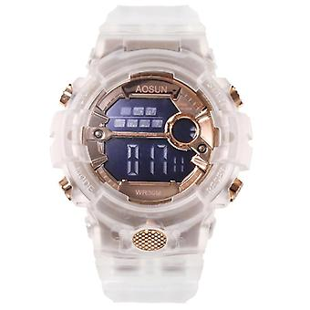 Children Digital Electronic Wristwatch Transparent Waterproof Swim Sport Watch