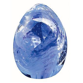 Caithness Glass Blessings Poids de papier bleu