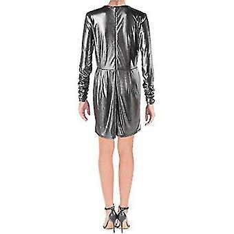 Aqua Womens Shimmer Mini Clubwear Dress Silver S