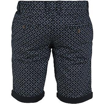 Duke D555 Mens Magna Big Tall King Size Patterned Summer Chino Shorts - Blue