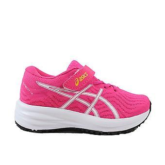 Asics Patriot 12 PS Pink/Glo White Mesh Girls Running Trainers