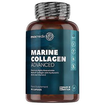 Marine Collagen Advanced 1500mg 90 Tablets with Vitamin C & Hyaluronic Acid
