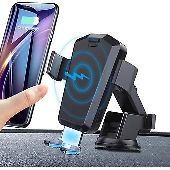 FengChun Caricatore Wireless Auto Automatico 10W Qi Caricabatterie Ricarica Rapida Adatto Supporto